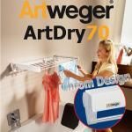 Artweger ArtDry 70 EDEL-CHROM-DESIGN Wandtrockner Wäschetrockner geniale Technik