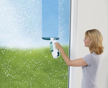 Leifheit 51113 Fenstersauger mit Click-System sorgt für streifenfreiem Blick
