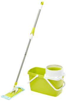 Leifheit 52040 Bodenwischer & Eimer Clean Twist System Set fresh lime