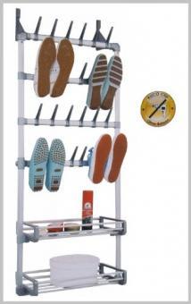 RUCO V169 Universal Schuhregal Tür Wand für 12 Paar Schuhe