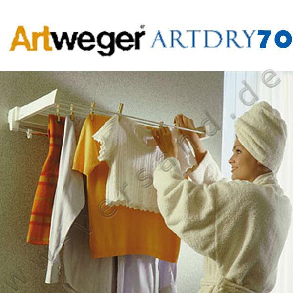ARTWEGER ArtDry 70 weiß Wäschetrockner Wäschständer Wandwäschetrockner