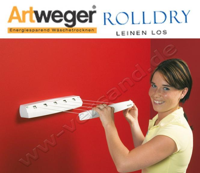 Artweger RollDry blau ausziehbare Wäscheleine Wandtrockner Wäschetrockner