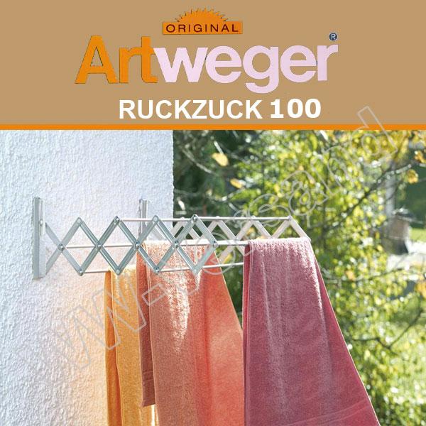 Artweger RuckZuck 100 - aluminium  Scherentrockner Wandtrockner Wächetrockner