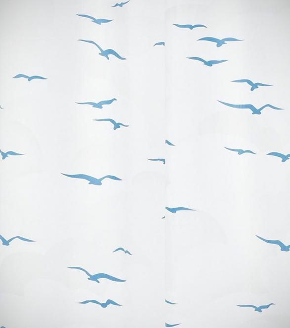 Ridder Ersatzduschvorhang Möwe VINYL weiss / blau f. Ombrella