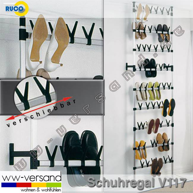 gro stabil teleskop schuhregal ruco v117 f 54 paar. Black Bedroom Furniture Sets. Home Design Ideas